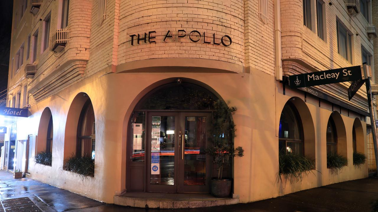 A staff member at The Apollo had tested positive. The venue has been closed for cleaning. Picture: Christian Gilles