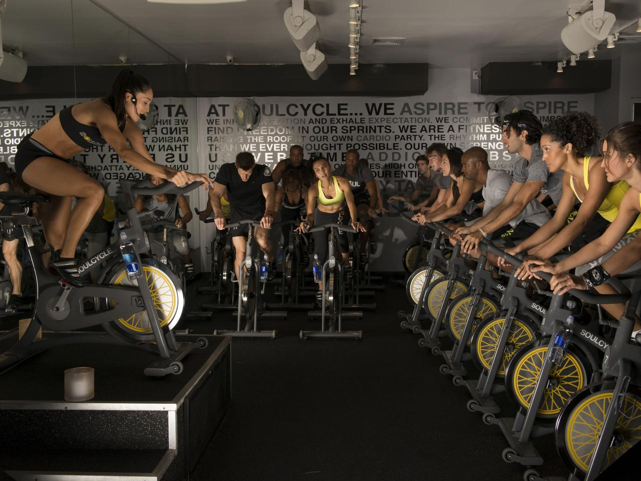 SoulCycle class in Los Angeles. Picture: supplied   Natasha Dragun, Escape, WeHo like a Celeb
