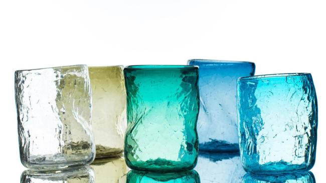5/13Soneva Fushi, Maldives So much to love with these glasses. They are made entirely from recycled glassware salvaged from the nearby atolls and immersed in water during production for a distinctive crackle effect.