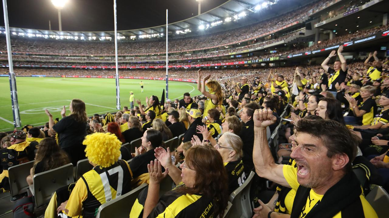 The MCG will allow a 50 per cent capacity crowd for Round 1. Picture : David Geraghty / The Australian.