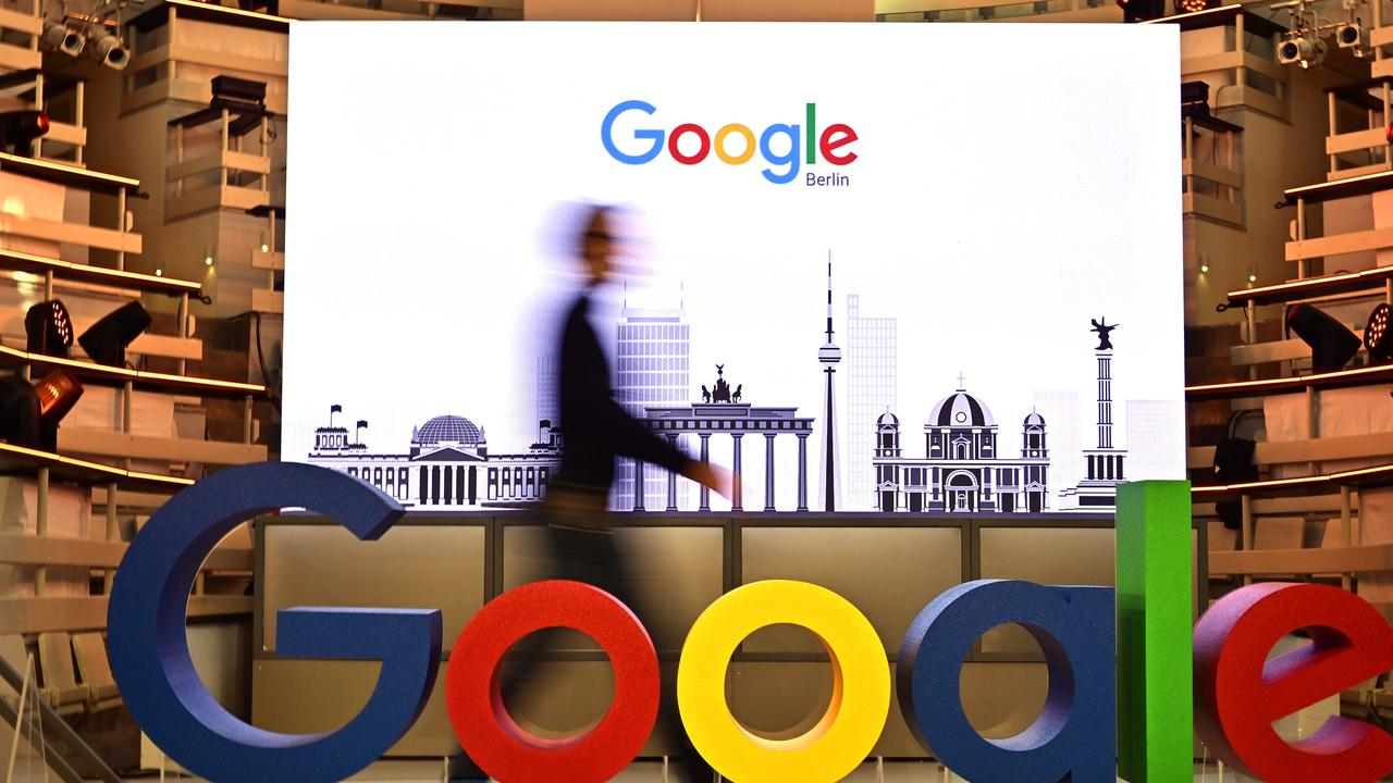 Google's revenue declined but not by as much as predicted. Picture: Tobias Schwarz/AFP