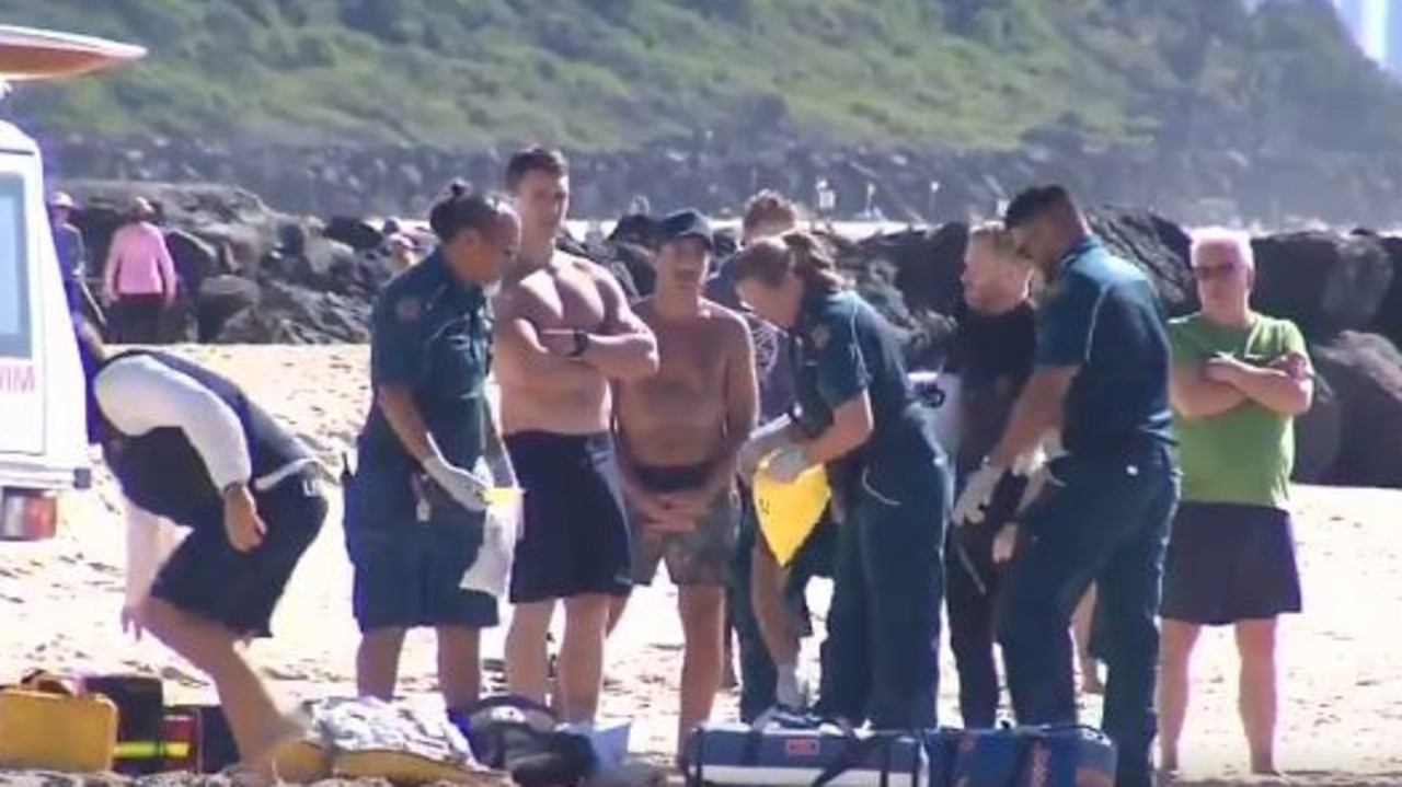 Fellow surfers tried desperately to save him. Photo: 9 News Queensland