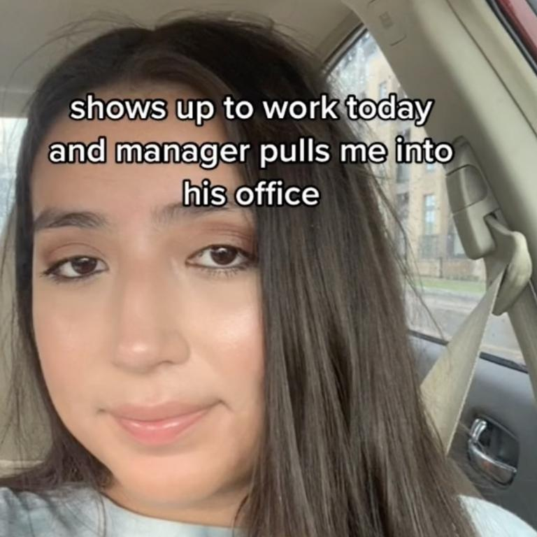 After her bosses saw her TikTok she was let go from the job. Picture: TikTok@vaneskinnylegnd.