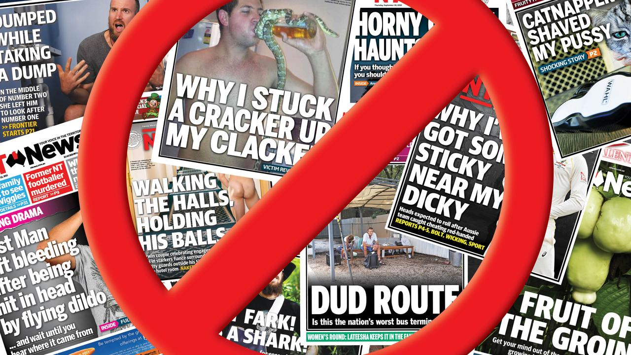NT News editor Matt Williams won't be collecting any more Headline of the Year awards. Picture: Jonathan Ng