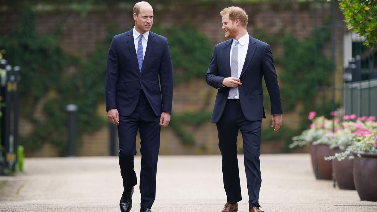 Harry in particular looked far happier than his last visit. Picture: Yui Mok/PA
