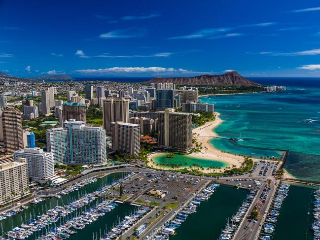 WAIKIKI BEACH Hawaii's most well-known beach, Waikiki Beach spans 3.2km long and is made up of eight different beaches. Sunseekers favour Duke Kahanamoku Beach, named after the Hawaiian surfing legend and Olympic champion. The Hilton Hawaiian Village lagoon is conveniently a stone's throw away. Picture: Hawaii Tourism Authority / Tor Johnson