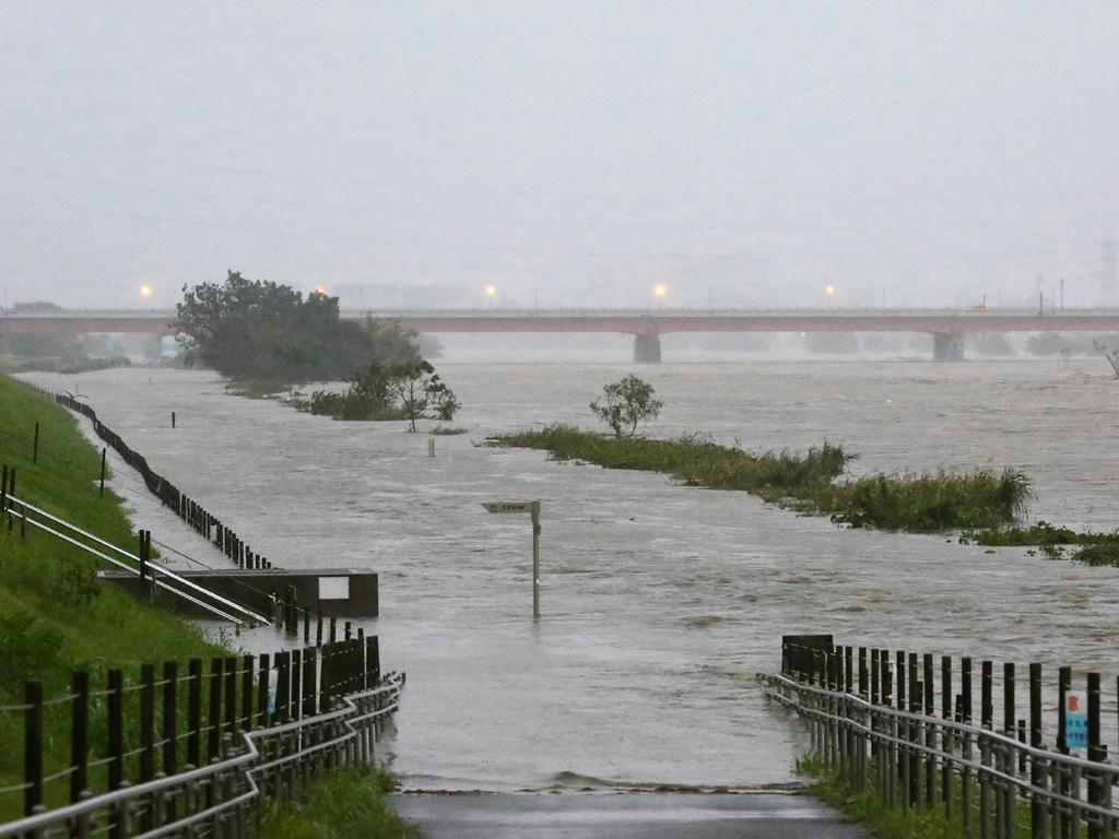 Heavy rains have caused rivers to swell. Picture: AFP