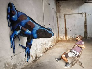 Odeith's mural creates illusions. Picture: Odeith/Instagram