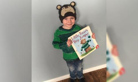 <b>THE MOST ADORABLE BEAR WE'VE SEEN.</b> Here's Koby, as the bear in  <i>The Little Bear's Big Jumper</i> and OMG we're going to die of cuteness overload!  <p><i>Image: supplied.</i></p>
