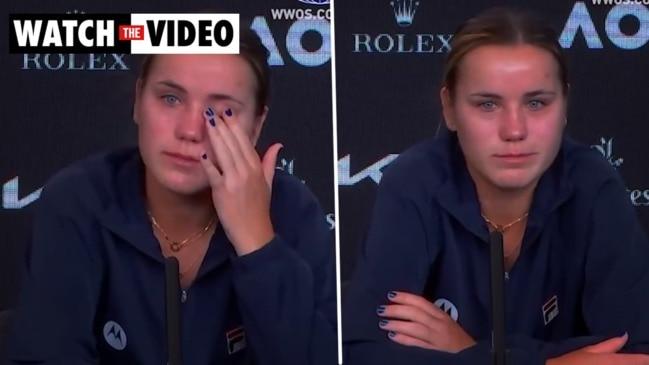 Sofia Kenin breaks down in press conference after shock loss
