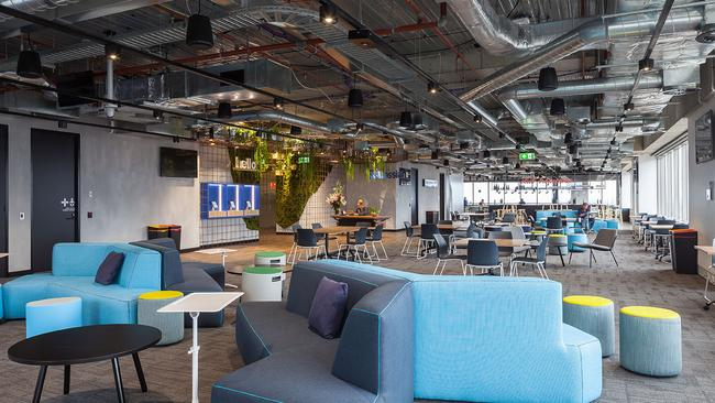 'Open company, no bullshit' is a motto of the company and this open space reflects that.