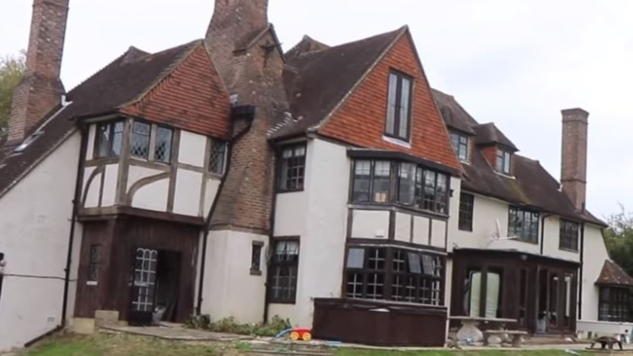 Almost every room of Katie Price's West Sussex mansion is filled with piles of old clothes. Picture: Supplied.