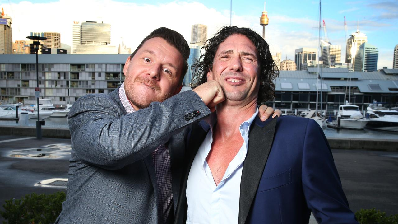 Manu Feildel and Colin Fassnidge in 2015. Picture: Richard Dobson
