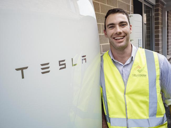The Tesla Powerwall. Picture: Hugo Sharp Photography.