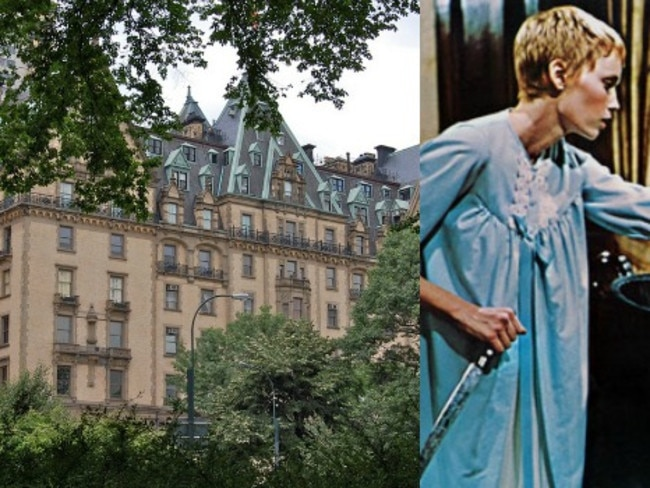 3/13The Dakota, New York, United StatesThis Gothic apartment building was the home of newlyweds Rosemary and Guy Woodhouse, who encountered satanic neighbours in the 1968 film Rosemary's Baby. Built in the 1880s and located at 72nd and Central Park West, the building's famous residents have included Lauren Bacall and Paul Simon. It was also the scene of John Lennon's tragic murder in 1980.
