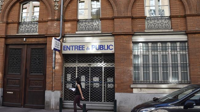 The Toulouse police station where the officer was stabbed has been closed. Picture: AFP