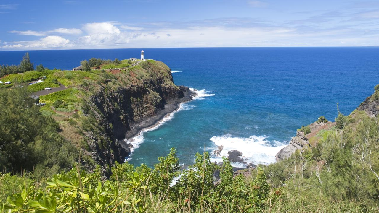 The Kilauea Lighthouse is one of the sights road-trippers can take in on a trip along Hawaii's Highway 56.