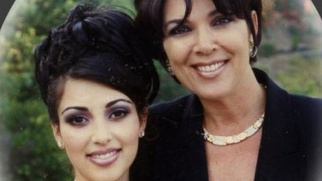 Birth control ... Kim Kardashian and mum, Kris Jenner, before her prom. Picture: Supplied