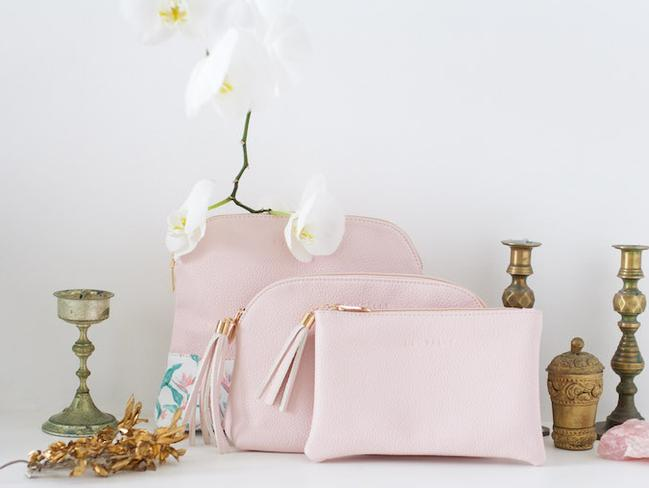 Versatile bags, that work as either a clutch or a make up bag.