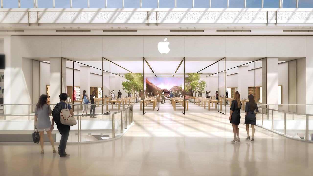Melbourne's Chadstone store is the first to get elements of the new retail design, such as the instore trees. But the full kit is waiting for a revamp of new flagship Australian store.