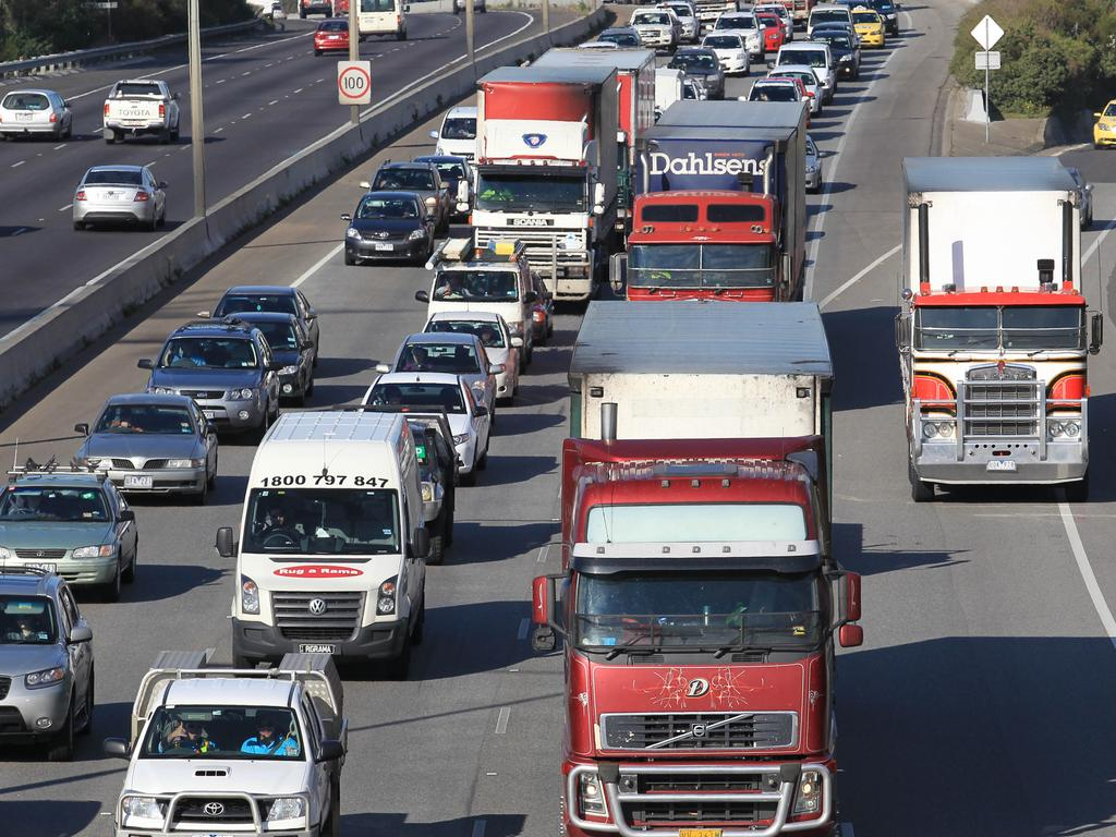 Mr Holyman was in a minor accident on his way home from work. Picture: David Crosling/AAP