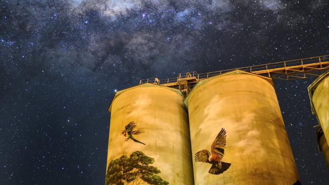 8/8GET ARTY, THROUGHOUT THE STATE Combine stargazing with art in the foreground, like the AMAZING sign in Forbes, the Utes in the Paddock installation in Condobolin, or Grenfell's Commodities Silos. Picture: Leigh Kasey-CameronSee also:- Best stargazing spots in NSW