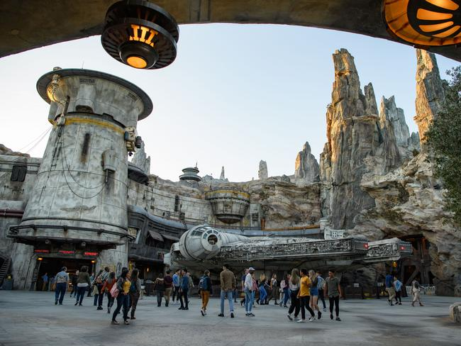 The new, 5ha addition to Disneyland is the park's largest single-themed land expansion ever, transporting visitors to Black Spire Outpost, a village on the planet of Batuu.