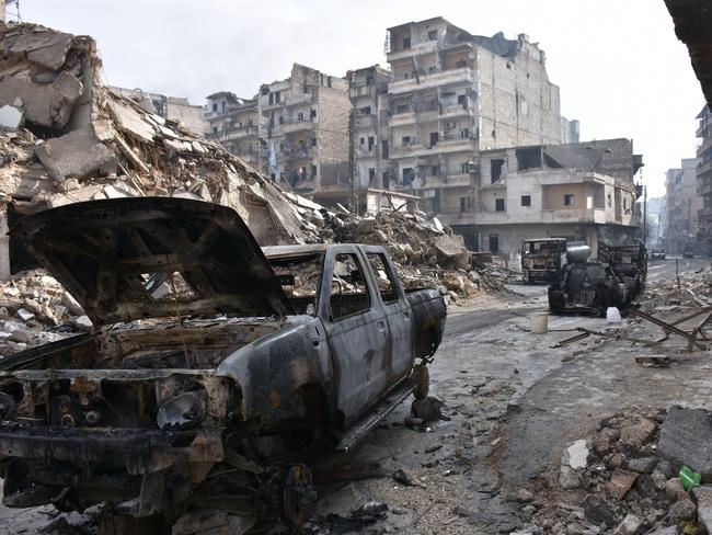 Destruction in the Syrian city of Aleppo. Social unrest is likely to increase the chances of civil war around the world in coming decades, a US intelligence report warns. Picture: AFP