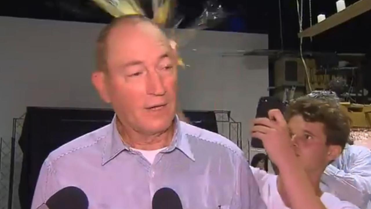 The moment Fraser Anning was egged by a 17-year old on the weekend. While the act was dubbed heroic by some, no one deserves to be attacked.