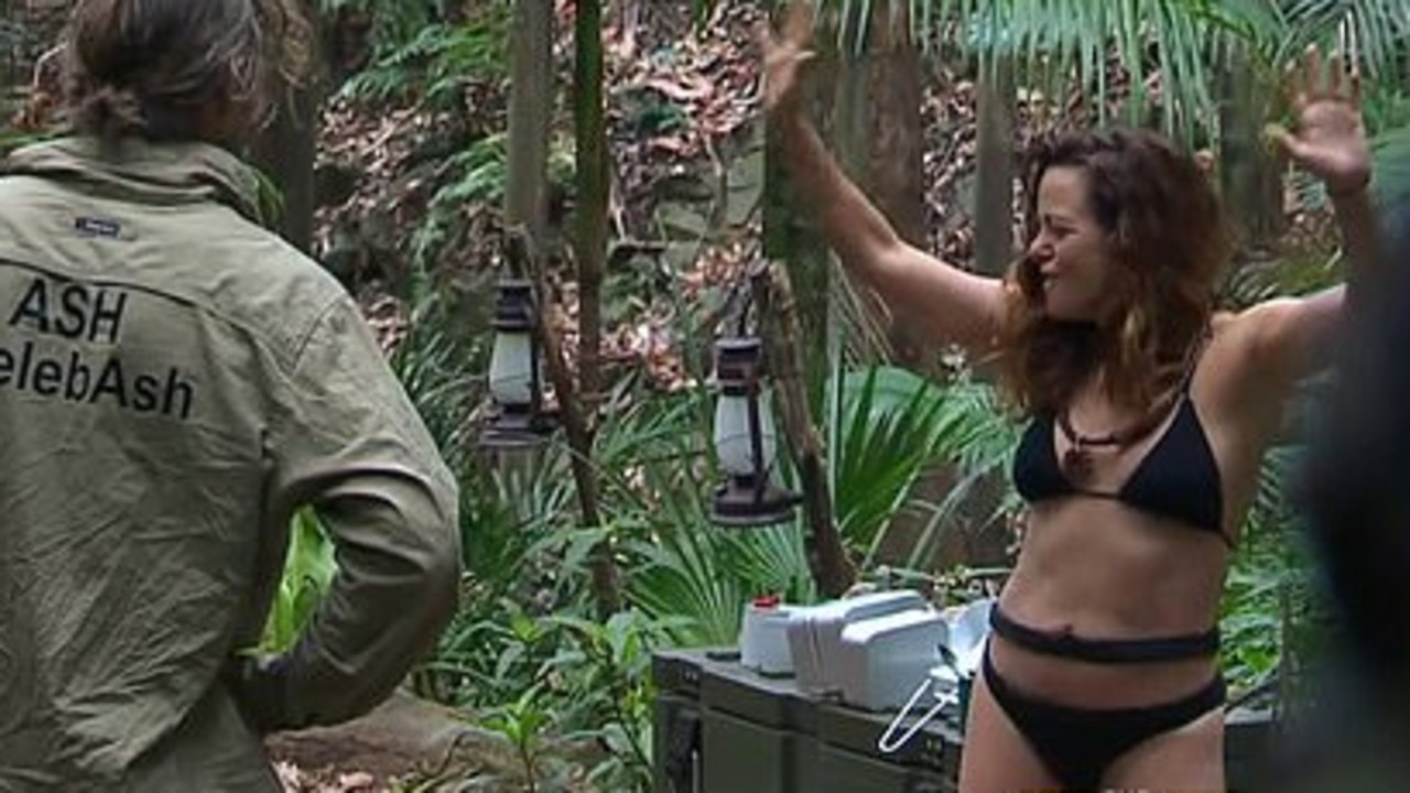 Fans couldn't get enough of Toni dancing in her bikini. Picture: Channel 10