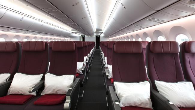 ESCAPE: Qantas 787 Dreamliner interiors. Picture: Qantas/Supplied