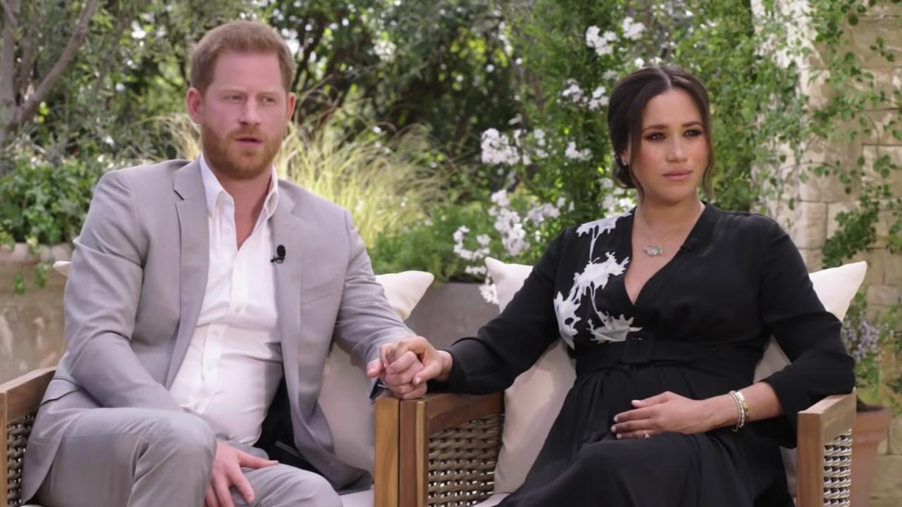 Viewers got a sneak peek of Oprah's Harry and Meghan interview. Picture: CBS