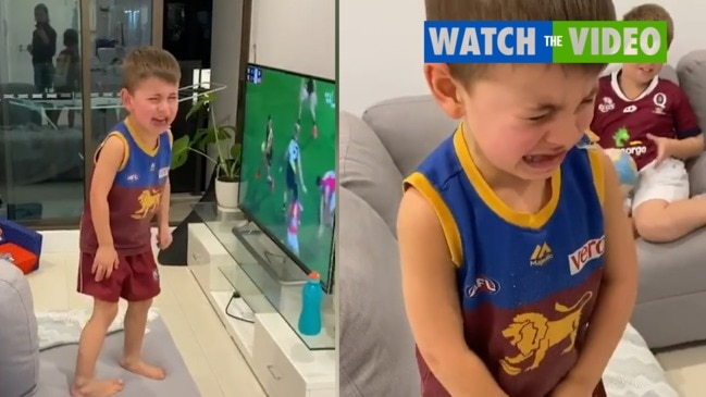 Dayne Zorko shares his son's adorable reaction to his missed kick
