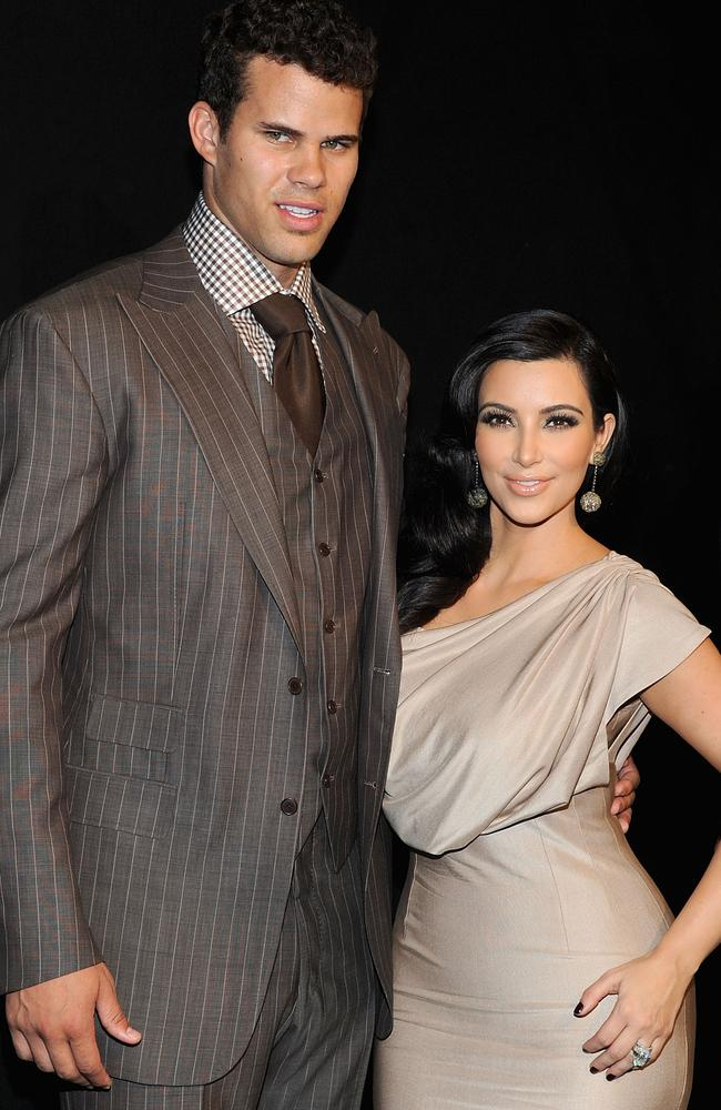 Kim filed for divorce from Kris 72 days after their lavish wedding. Picture: Getty Images.