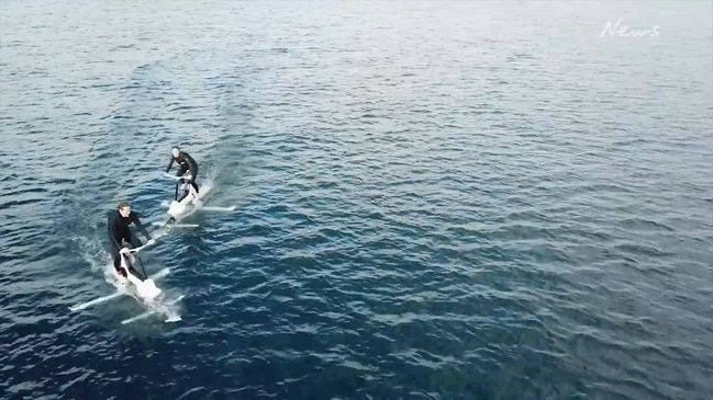 Electric bike over water