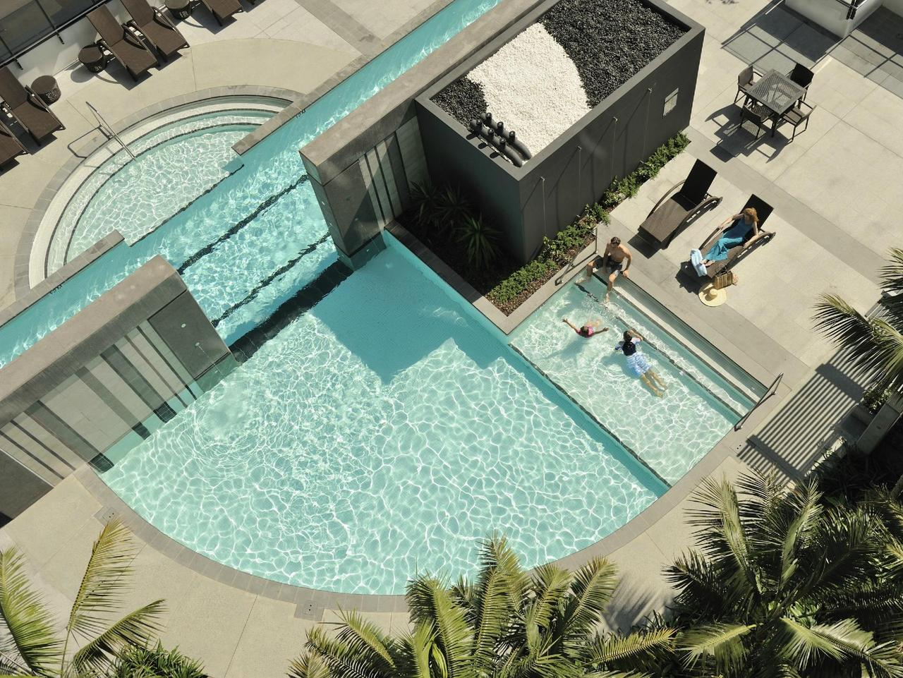 The resort pool at Peppers Broadbeach is a family favourite.