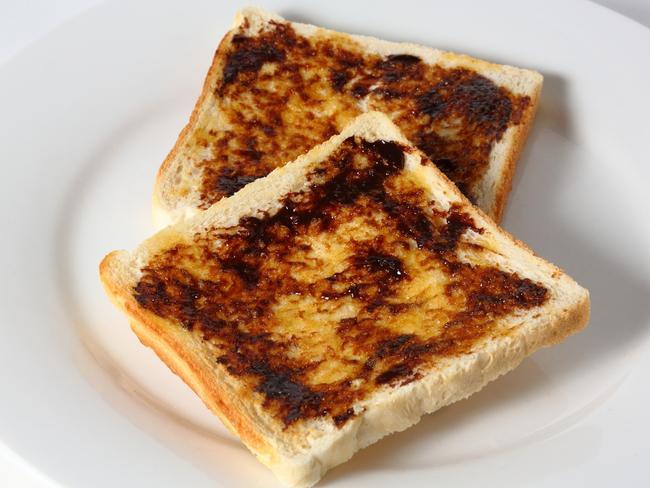 An Australian icon ... Vegemite on toast.