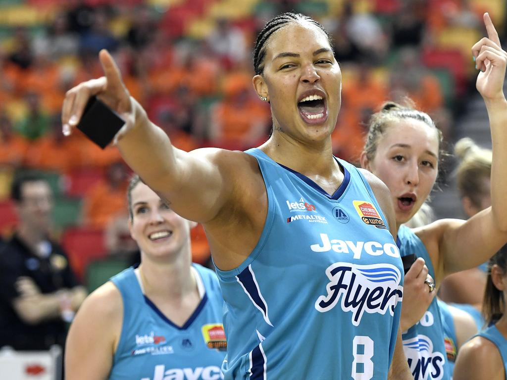 Liz Cambage after winning the WNBL Grand Final with the Southside Flyers.