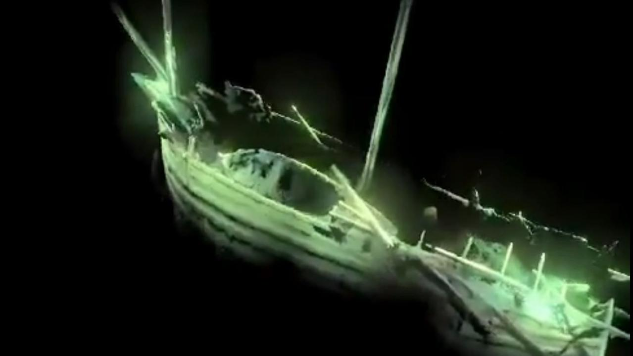 Frozen in time: Marine archaeologists say the intact ship predates King Henry VII's battle ship in the English Tudor navy wars. Picture: Deep Sea Productions/MMT