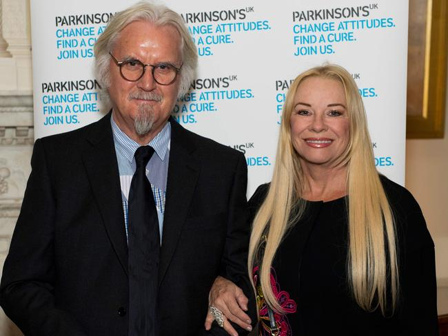 Billy Connolly and his Australian wife Pamela Stephenson, pictured in London in 2017. Picture: AFP