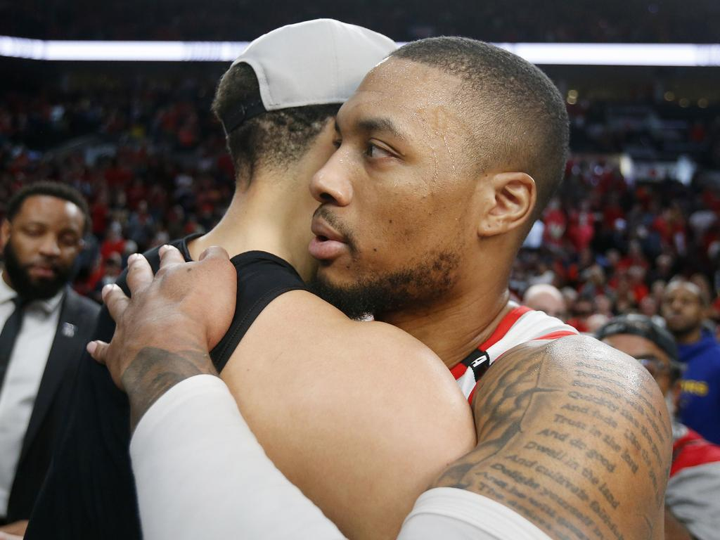 Damian Lillard is set for life. Picture: Jonathan Ferrey/Getty Images/AFP