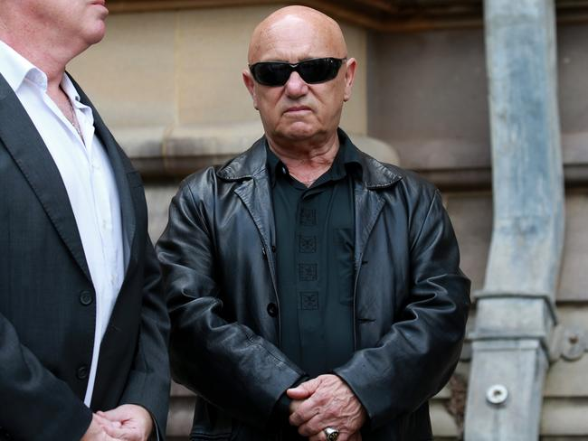 Rocker Angry Anderson arrives. Picture: Toby Zerna
