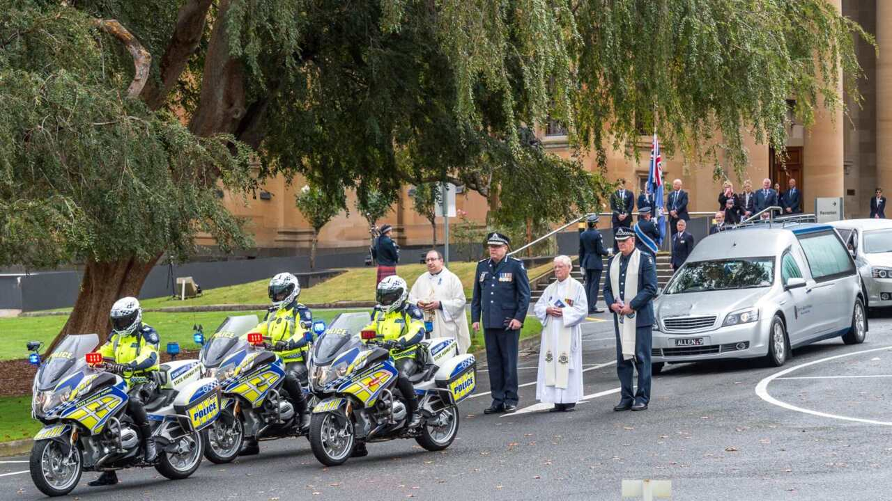 Funeral held for fourth police officer killed in freeway crash