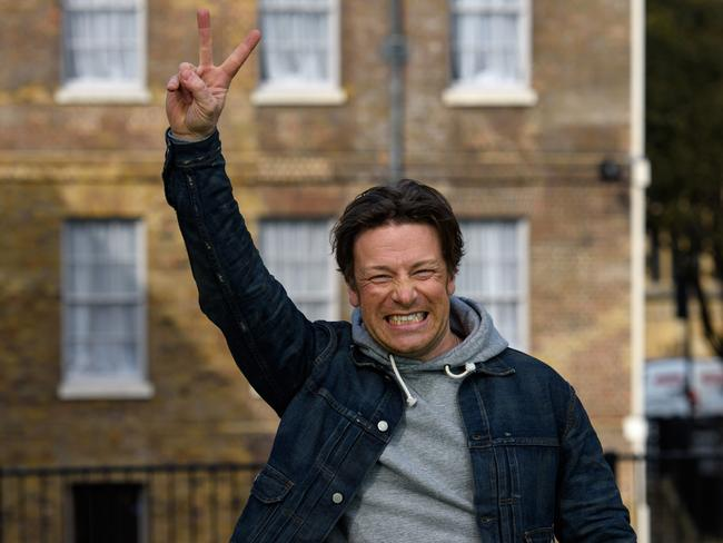 """Celebrating ... Jamie Oliver said the sugar tax is a """"big moment in child health"""". Picture: Ben Pruchnie/Getty Images"""