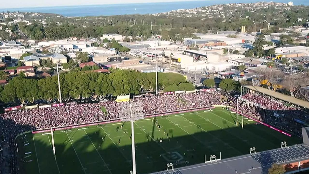 Manly fans answer critics with bumper crowd of 15,245 for Eels clash