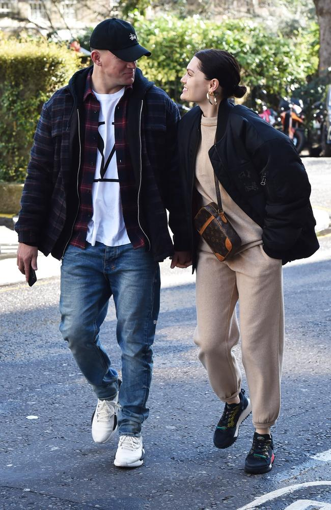 The look of love: Lovebirds Channing Tatum and Jessie J stepped out in London on March 14. Picture: Neil Warner/MEGA