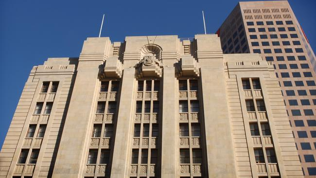 The State Bank building on King William St, Adelaide.