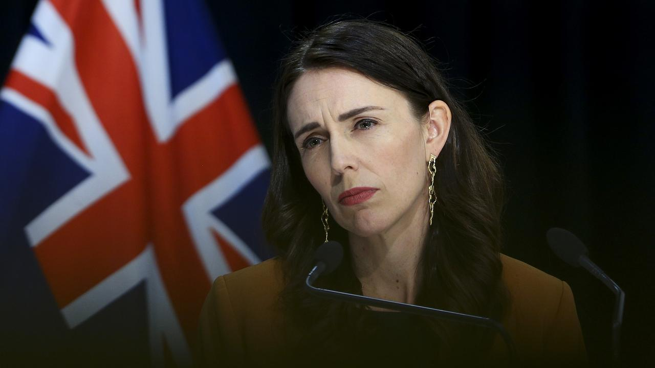 Prime Minister Jacinda Ardern said there will be a review into how two international visitors with COVID-19 were able to roam the country. Picture: Hagen Hopkins/Getty Images.
