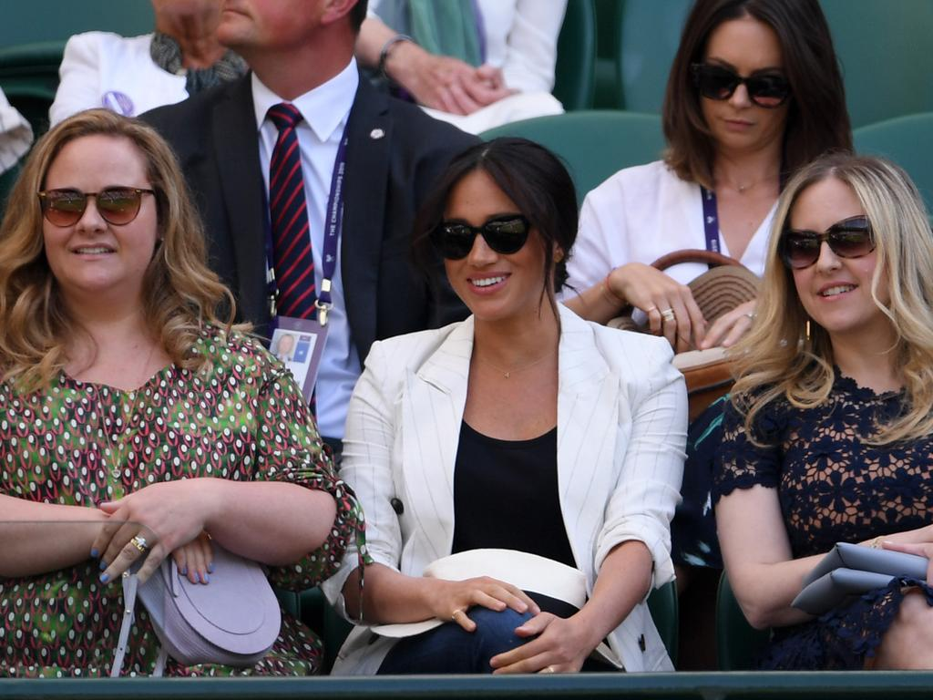 The Duchess of Sussex cheered on her close friend, Serena Williams. Picture: Getty Images