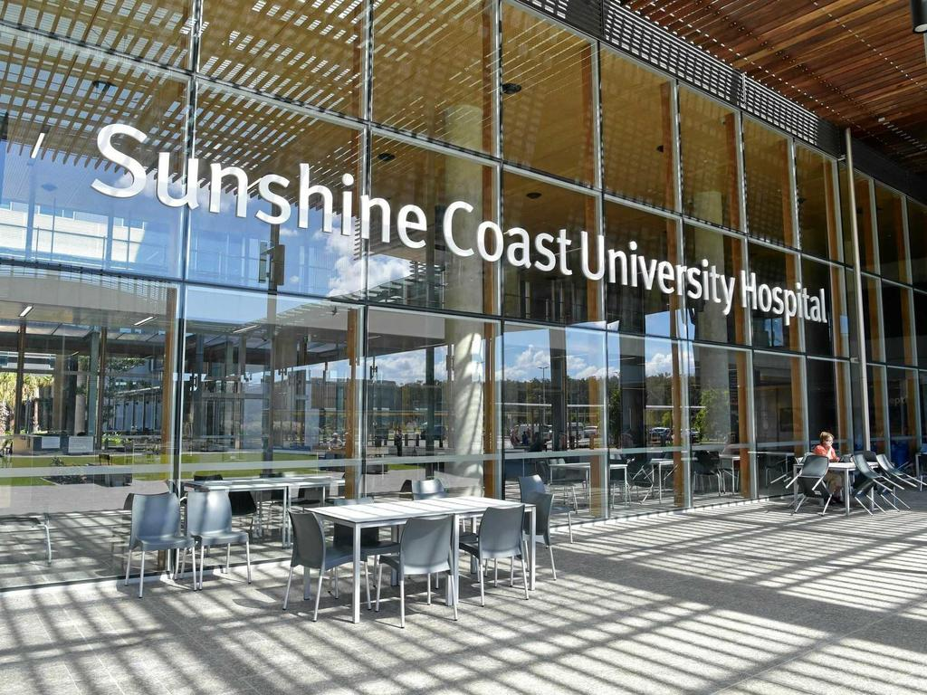 A Melbourne couple are at Sunshine Coast University Hospital after a woman tested positive to Covid-19 having left Melbourne during lockdown.